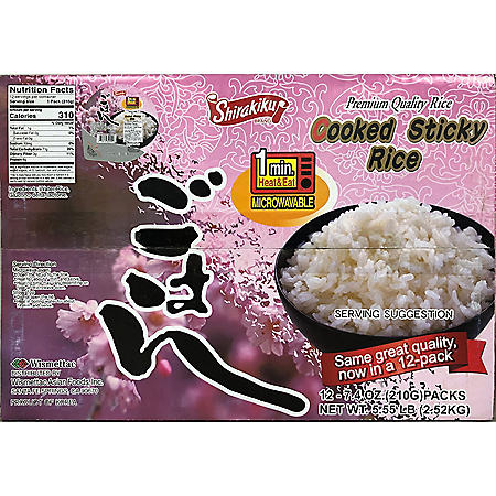 Shirakiku Cooked Sticky White Rice (12 pk.)