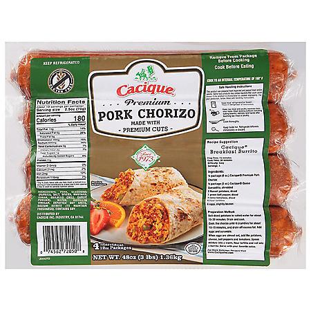 Cacique Premium Pork Chorizo (48 oz.)