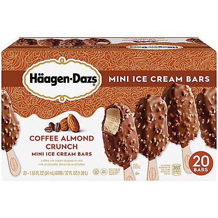 Haagen-Dazs Coffee Almond Crunch Mini Ice Cream Bars (20 ct.)
