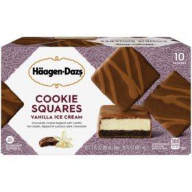 Haagen-Dazs Ice Cream Cookie Squares, Vanilla (10 ct.)
