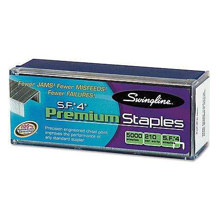 Swingline - S.F. 4 Premium Chisel Point 210 Count Full-Strip Staples -  5000/Box