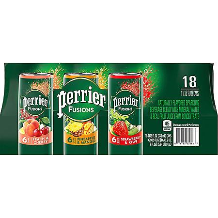 Perrier & Juice Variety Pack (11.15 fl. oz., 18 pk.)