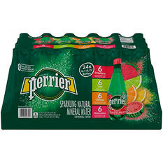 Perrier Sparkling Natural Mineral Water, Assorted Flavors (16.9 oz., 24 pk.)