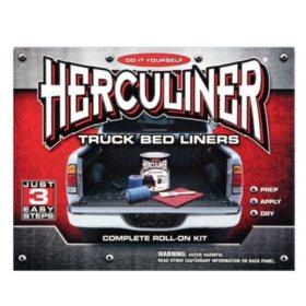 Herculiner Complete Roll On Bed Liner Kit - Black