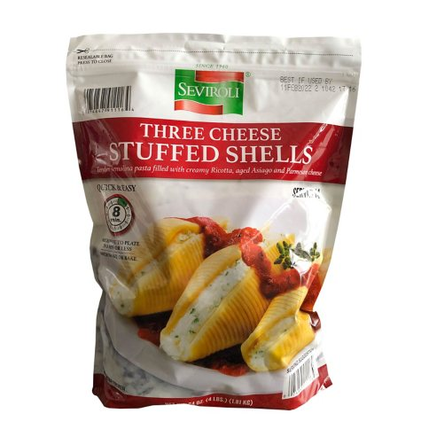 Seviroli Three Cheese Stuffed Shells (4 lbs.)