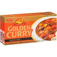 S&B Mild Golden Curry Sauce Mix - 8.4 oz. - 2 ct.