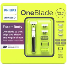 Philips Norelco OneBlade Face + Body Electric Trimmer and Shaver