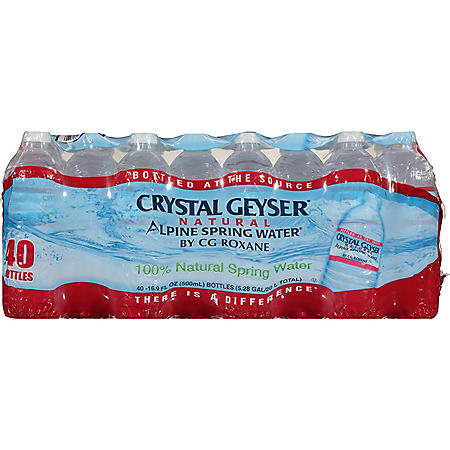 Crystal Geyser Alpine Spring Water (16.9oz / 40pk)