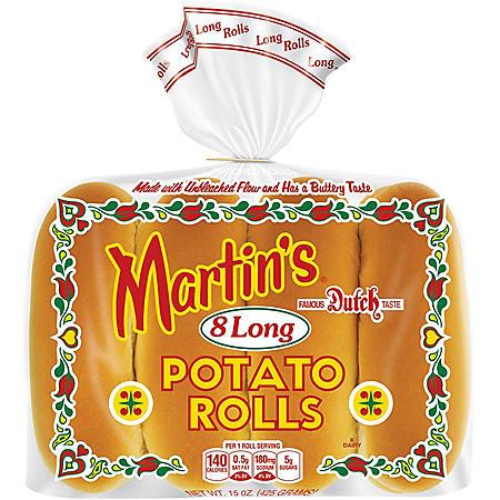 Martin's Famous Long Potato Rolls (15 oz., 8 ct.)