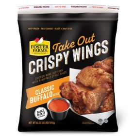 Foster Farms Frozen Classic Buffalo Take-out Crispy Wings (4 lbs.)