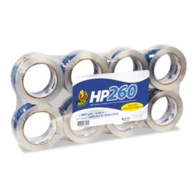 "Duck Brand HP260 Packaging Tape, 1.88"" x 60yds., Select Quantity"