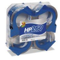 """Duck Packaging Tape, 1.88"""" x 60YD - 4 Rolls w/ Dispensers"""