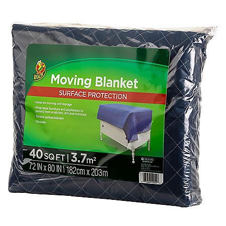 "Duck Brand Blue 72""x80"" Moving Blanket"