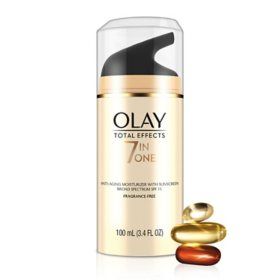 Olay Total Effects Face Moisturizer SPF 15, Fragrance-Free, (3.4 fl. oz.)