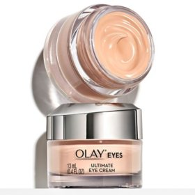 Olay Ultimate Eye Cream for Wrinkles, Puffy Eyes + Dark Circles, (0.4 fl. oz., 2 pk.)