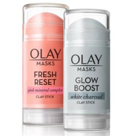 Olay Mask Clay Stick Face Mask Multi-Pack, (1.7 oz.)