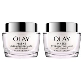 Olay Brightening Overnight Gel Face Mask with Vitamin C (1.7 fl. oz. 2 pk.)