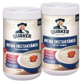 Quaker Instant Avena original with Iron (2 pk./24.7 oz.)