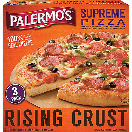 Palermo's Rising Crust Supreme Pizza, Frozen (3 pk.)