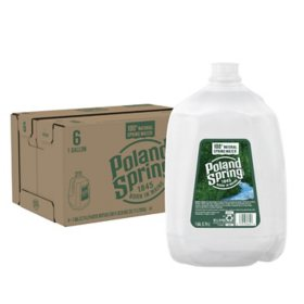 Poland Spring 100% Natural Spring Water (1gal / 6pk)