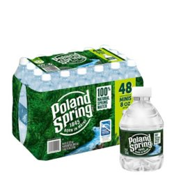 Poland Spring 100% Natural Spring Water (8oz / 48pk)