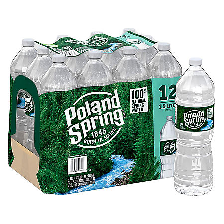 Poland Spring 100% Natural Spring Water (1.5L / 12pk)