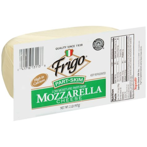 Frigo Part Skim Mozzarella Cheese - 2 lb.