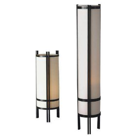 Japanese Table & Floor Lamp Set