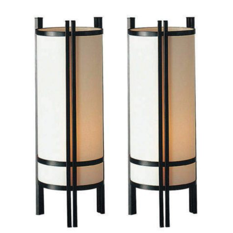 Japanese Table Lamp Set - 2 pc.