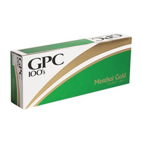 Gpc Gold Menthol 100s 1 Carton
