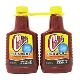 Cookies® Original BBQ Sauce - 2/26 oz. bottles