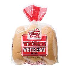 Village Hearth Wisconsin Brat Bun (12 ct., 30 oz.)