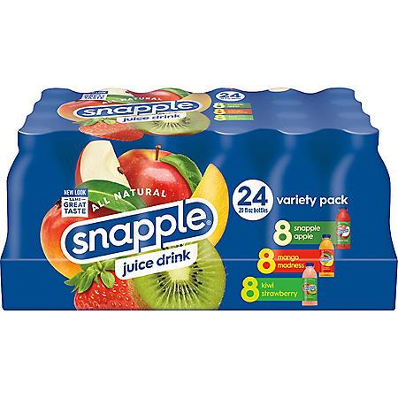 Snapple Juice Variety Pack (20oz / 24pk)