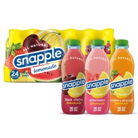 Snapple Lemonades Variety Pack (20 fl. oz., 24 pk.)