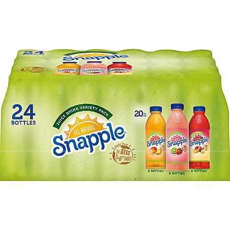 delete-Snapple Juice Variety Pack (20 oz , 24 pk ) - Sam's Club