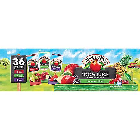 Apple & Eve 100% Juice Variety Pack (6.75oz / 36pk)