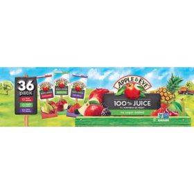 Apple & Eve 100% Juice Variety Pack (6.75 fl. oz., 36 ct.)