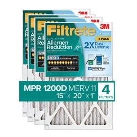 Filtrete Dual-Action Micro Allergen Plus 2X Dust Defense Filter (4 Pk.)