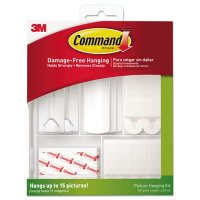 Command™ Picture Hanging Kit, White/Clear, Assorted Sizes, 38 Pieces/Pack