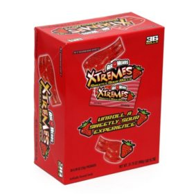 Airheads Xtremes Sweetly Sour Rolls, Strawberry Flavor (36ct/0.89oz each)
