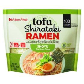 House Foods Tofu Shirataki Ramen, Soy Sauce Flavor (17 oz.)