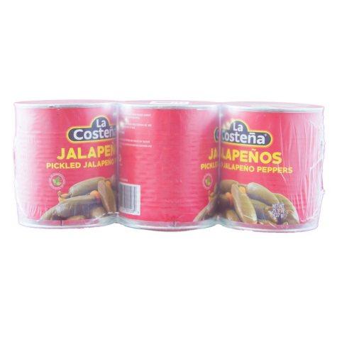 La Costena Whole Jalapenos - 3/ 26 oz.