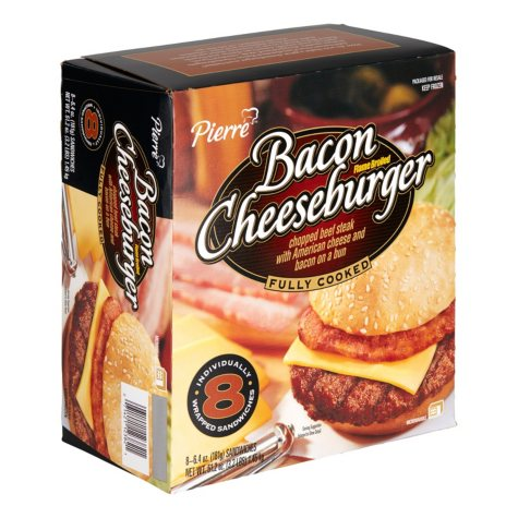 Pierre Bacon Cheeseburger - 8/6.4 oz.