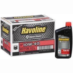 Chevron Havoline w/Deposit Shield 10w40 Motor Oil - 1 Quart Bottles - 12 pk.