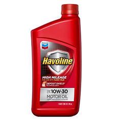 Havoline High Mileage Motor Oil 10w30 6 1qts