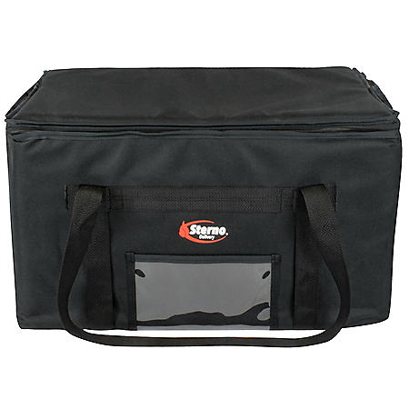 """Sterno Delivery Insulated Food Carrier (Black, 22"""" x 13"""" x 14"""")"""