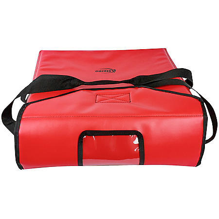 """Sterno Insulated Vinyl Delivery Pizza Carrier (Red, 19"""" x 19"""" x 7"""")"""