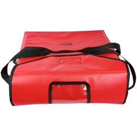 "Sterno Insulated Vinyl Delivery Pizza Carrier (Red, 19"" x 19"" x 7"")"