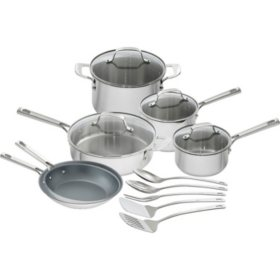 Emeril Lagasse 15-Piece Stainless-Steel Cookware Set - Sam\'s ...