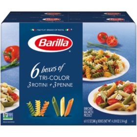 Barilla Tri-Color Pasta, Variety Pack (12 oz., 6 pk.)